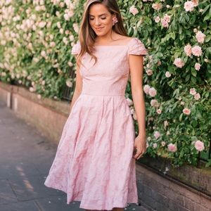 Gal Meets Glam Pink Agusta Off The Shoulder Dress